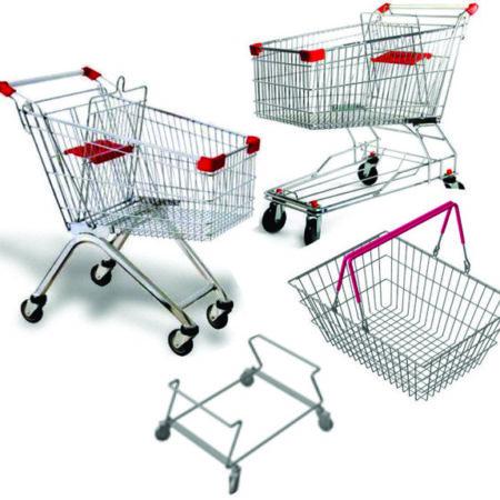 Покупательские корзины и тележки